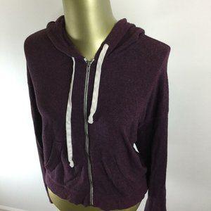 HOLLISTER Full Zip Long Sleeve Purple Hooded